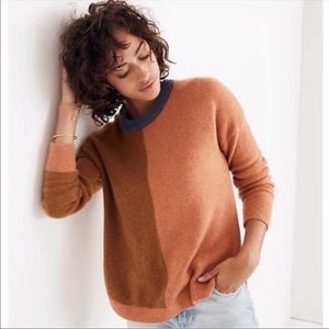 Madewell westlake color block sweater